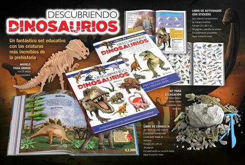 Libro Descubriendo Dinosaurios Con Kit Escavación  Planeta