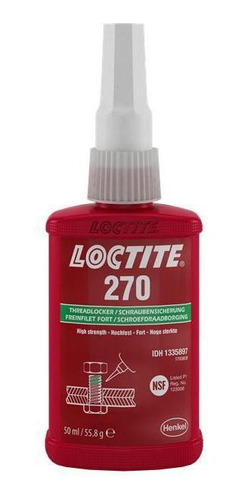 Adesivo Loctite 270 Trava Roscas Alto Torque Verde 50g