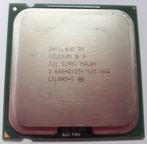 Processador Intel Celeron D 2.66ghz/256/533/04a