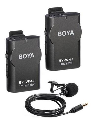 Micrófono Inalámbrico Boya By-wm4 Negro