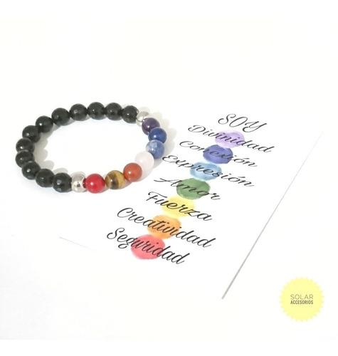 Pulsera Chakras Yoga Reiki Sanación Cristal Piedra Natural