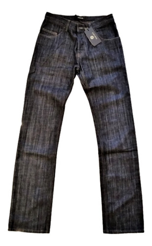 Tk0v Calça Jeans Versace Botão Frontal Importado Original