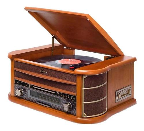 Vitrola Raveo New Opera Bt Toca-discos Cd Bluetooth Radio Fm
