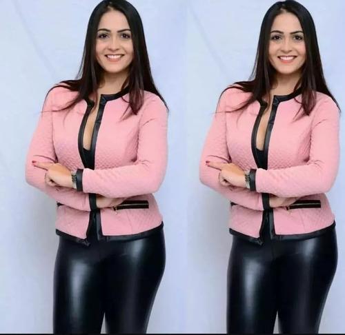 Jaquetinha Feminina Blusa Frio Jacaquard Quentinha Social