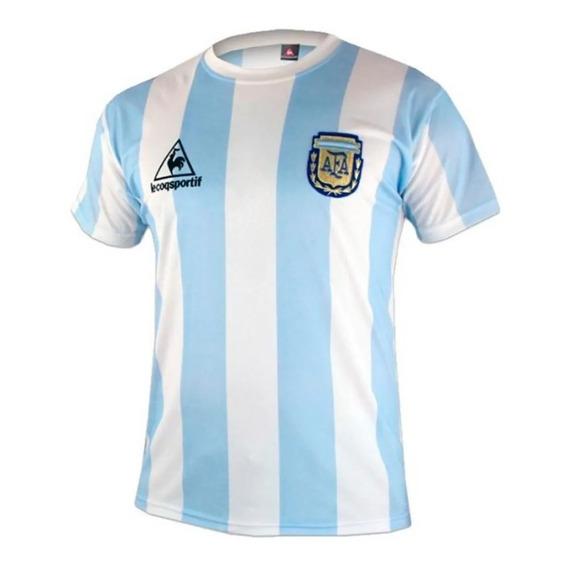 Camiseta De Argentina Titular Mundial Mexico 1986 #10
