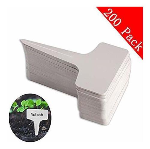 200pcs T-type Pvc Impermeable T Etiqueta Marcadores De Plant