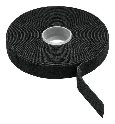 Cinta De Contacto Doble Tipo Velcro  10 M, Negra