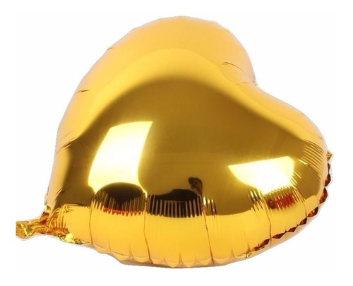 10 Balão Metalizado Coração 45cm Festa Casamento Gás Cores