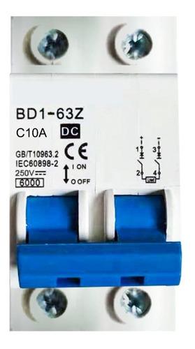 Disjuntor Bipolar Dc Cc 250v 10a 16a 20a 25a 32a 40a 63a