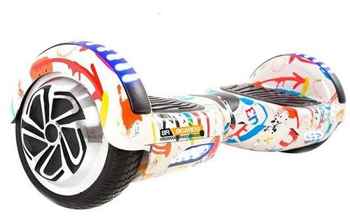 Hoverboard Skate Elétrico 6.5 Grafite Led Bluetooth