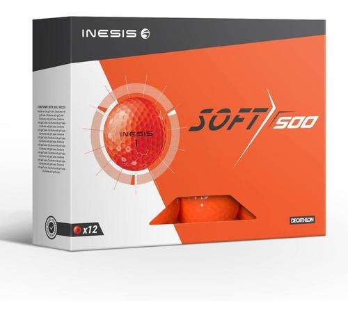 Bolas De Golfe Soft 500 Inesis (kit Com 12 Bolas)