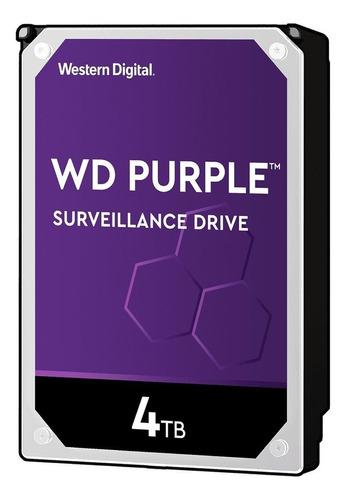 Disco Rígido Interno Western Digital Wd Purple Surveillance Wd40purz 4tb Roxo