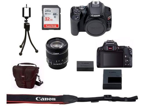 Câmera Canon Eos Rebel Sl3 C/ 18 55mm Com Nfe