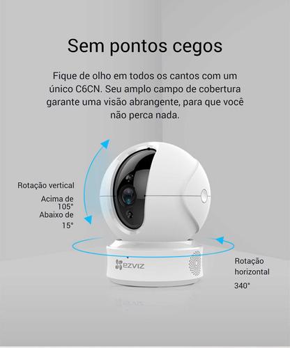 Ezviz Camera Ip Wifi C6cn Cs-cv246-a0-1c2wfr (6526) 1080p