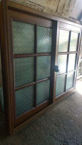 Ventana Colonial Color Madera Aluminio