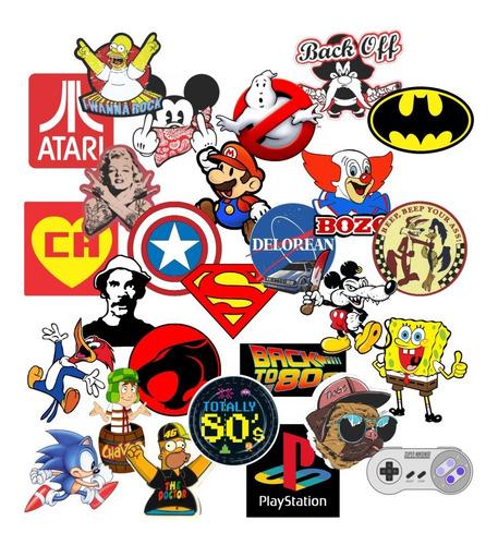 Adesivos Vintage Geek Nerd Personagens Games (20un)