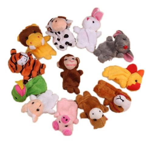 Set Titeres Animales 12 Piezas Nuevos Titere Dedo