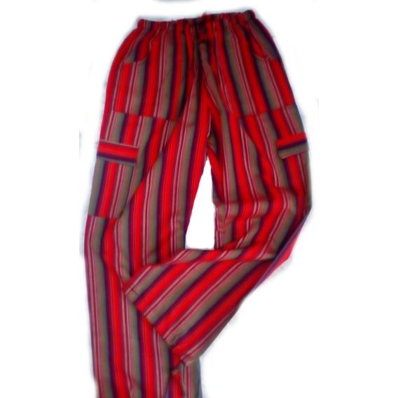 Pantalón Rayado Hindú Bali Tela Con Bolsillos Talle 1 Al 6