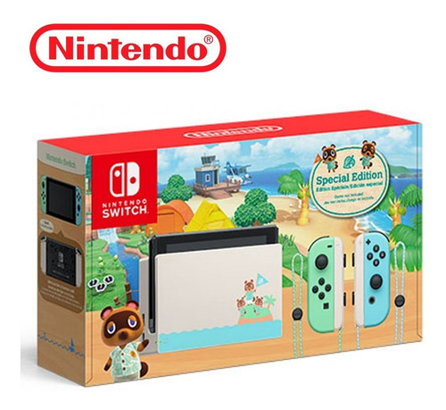 Console New Nintendo Switch Animal Crossing Special Edition