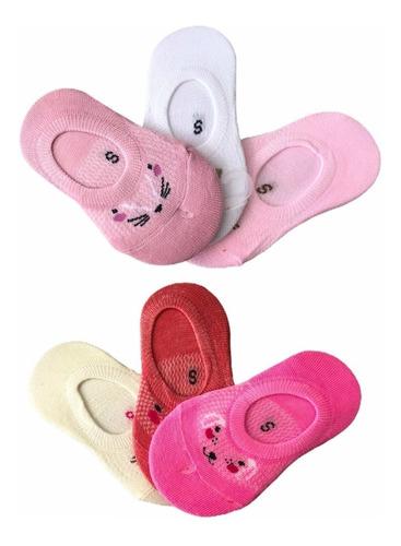 Kit 12 Pares De Meia Sapatilha Infantil Menina 1-3 Anos