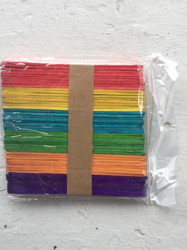 Paletas De Color Para Helados Palito Por 100 Unidades
