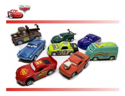 8 Carrinhos Coleção Carros Disney Relâmpago Mc Queen  Filme