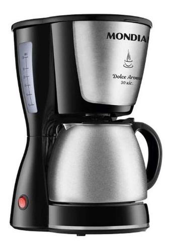 Cafeteira Mondial Dolce Arome Inox C-37ji Semi Automática Preta E Aço Inoxidável De Filtro 110v