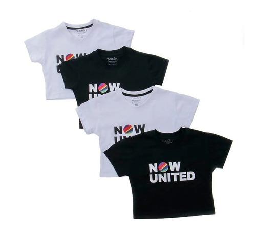 Cropped Infantil E Adulta Now United Camiseta Blusa