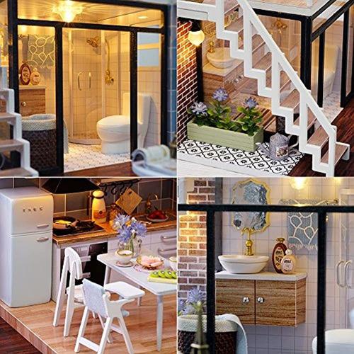 Miniatura De Casa De Muñecas Cutebee Con Muebles, Kit De Ca
