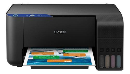 Impresora A Color  Multifunción Epson Ecotank L3110 Negra 110v
