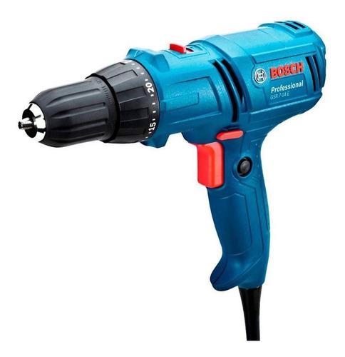 Furadeira Elétrica Parafusadeira Bosch Professional Gsr 7-14 E 1400rpm 400w Azul 127v Com Caixa De Papelão