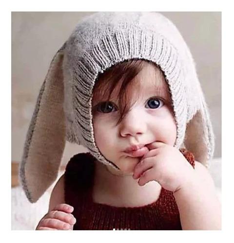 Touca Infantil Bebê Menina Menino Coelhinho Pascoa Inverno