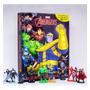 Brinquedo Livro Heróis Vingadores Com Miniaturas E Cenário