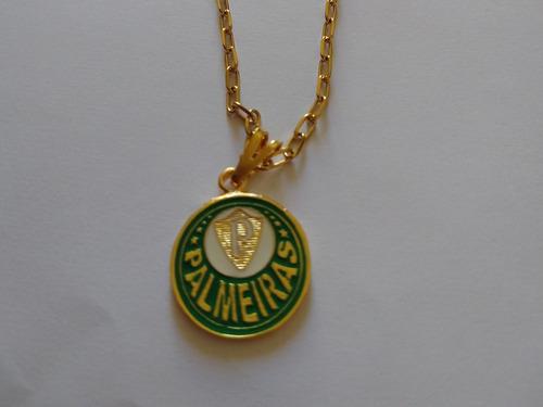 Corrente Cartier Com Pingente Do Palmeiras 60 Cm Cor Dourada