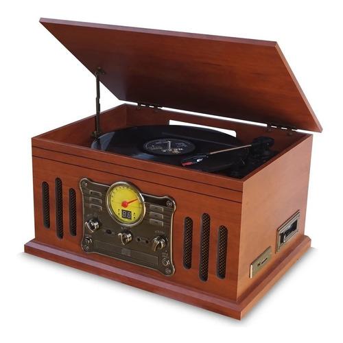 Vitrola Toca Discos De Vinil Bluetooth Stadio E Fita Cassete