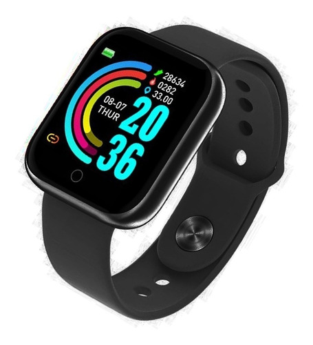 Relogio Inteligente Smartwatch D20 Bluetooth Preto C/nfe