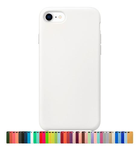 Capa Capinha Silicone Veludo Compatível Com iPhone 7 8 E Se