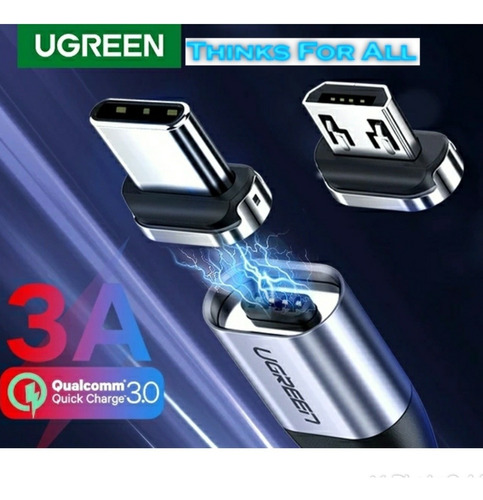 Cable Magnético Micro Usb Ugreen Alta Calidad.