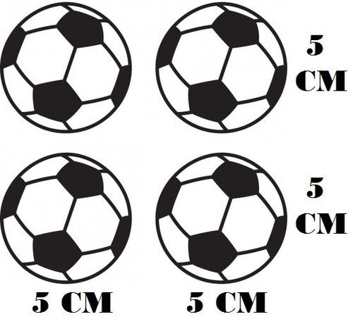 4 Adesivos Decalque Bola Futebol Com Frete Grátis