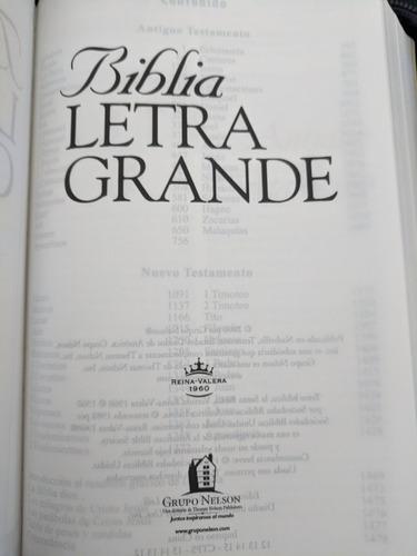 Biblia Rvr1960 Letra Grande Con Forro Y Cremallera ¿color?