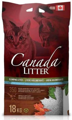 Arena Aglomerante Canada Litter 18kg Sanitario Gato