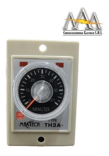 Temporizador Analogo 110/220v Desde 12s Hasta 60m Con Base