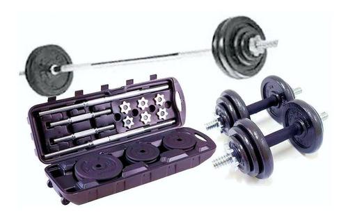 Kit Pesas Profesional Home Fitness Barra Mancuernas 70 Kg