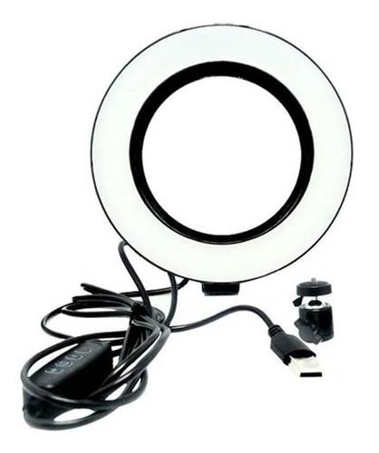 Iluminador Ring Light Led Anel Aro De Luz 6 Polegadas