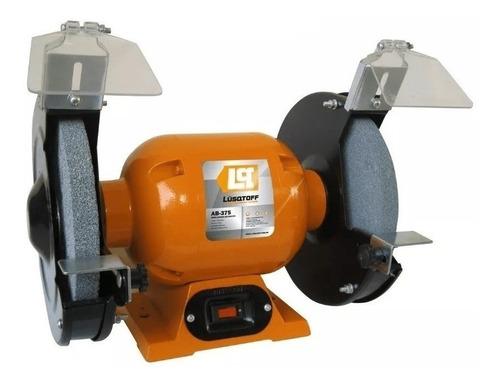 Amoladora De Banco Lüsqtoff Ab-375  De 50hz Naranja 220v