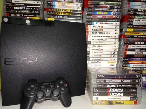 Playstation 3- Ps3 Pes, Gta V, Fifa19 + Controle