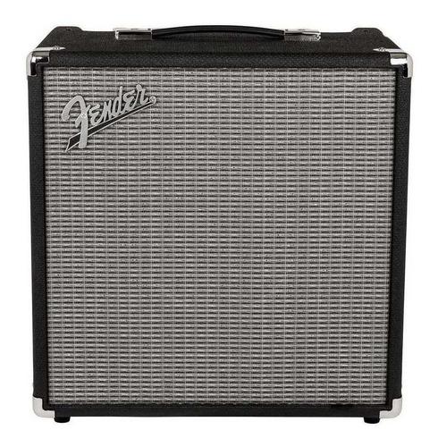 Amplificador Fender Rumble Series 40 Valvular Para Bajo De 40w Color Negro/plata 120v