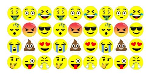 36 Imãs Emoji Decorativos Geladeira Quadros Fotos Lembretes