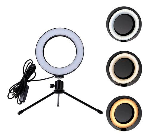 Ring Light Completo Anel Selfie Iluminador Portátil 360º 16