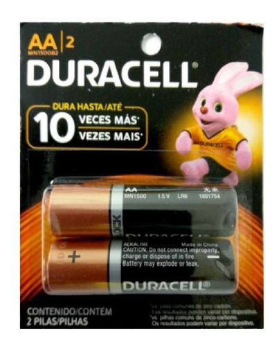 Pilas Baterias Aa Duracell Pack 2 Unidades Oferta 1$ Gk